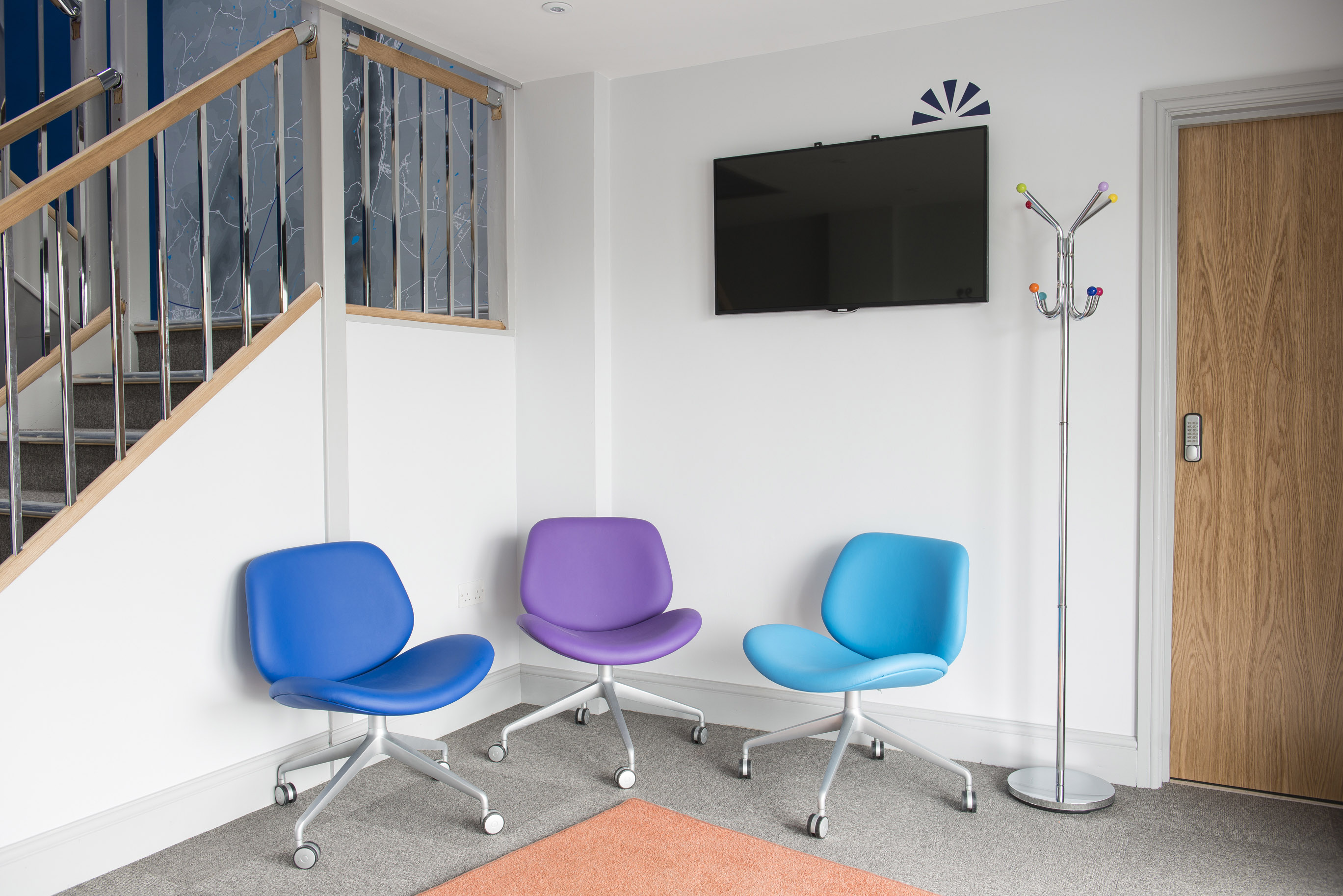 comfortable seats at open space meeting rooms in malvern, worcester, worcestershire
